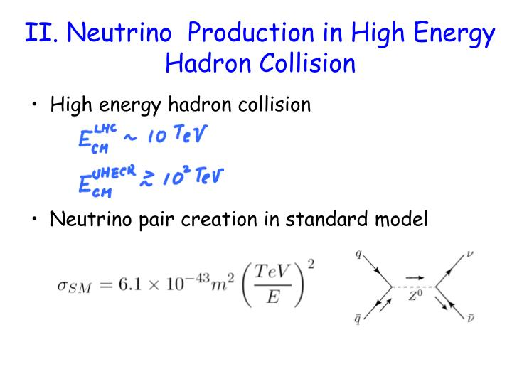 II. Neutrino  Production in High Energy Hadron Collision