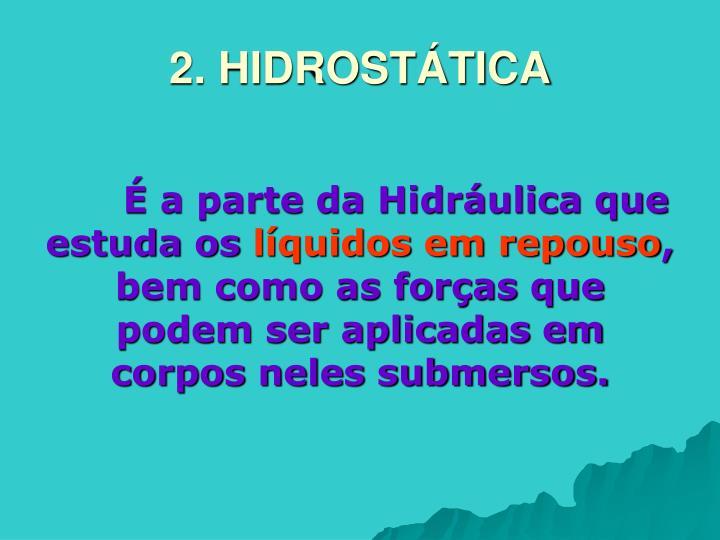 2. HIDROSTÁTICA