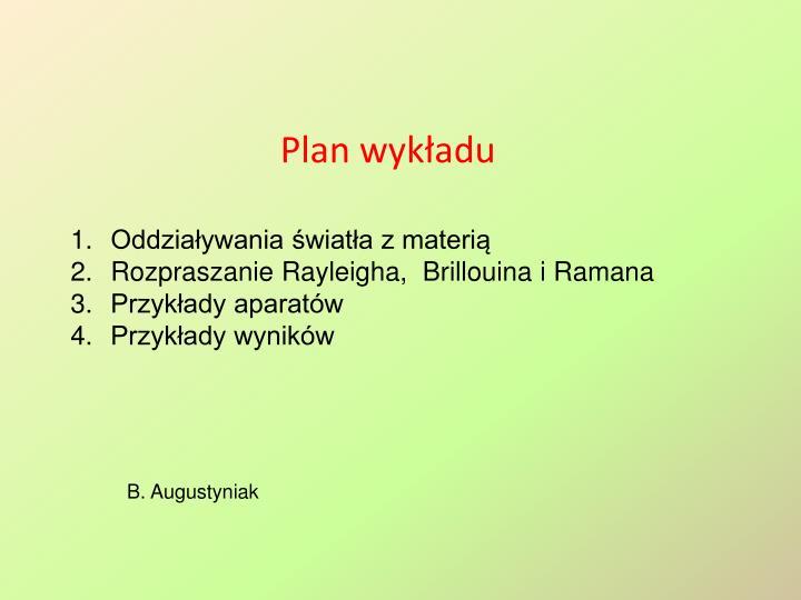 Plan wykładu