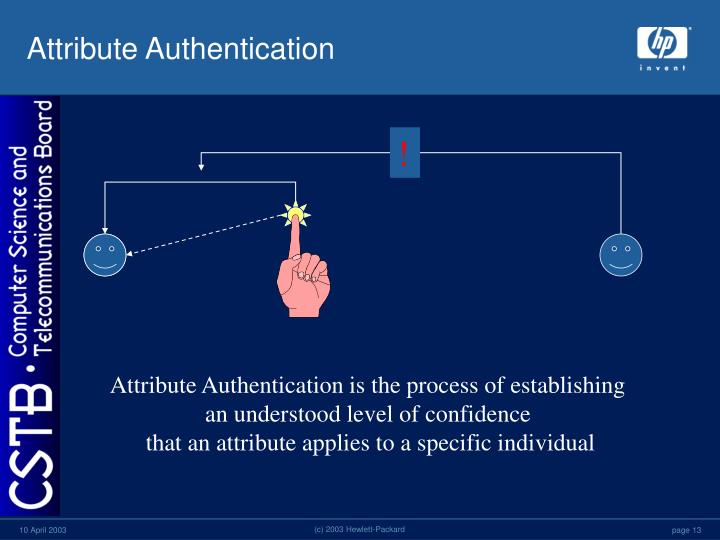 Attribute Authentication