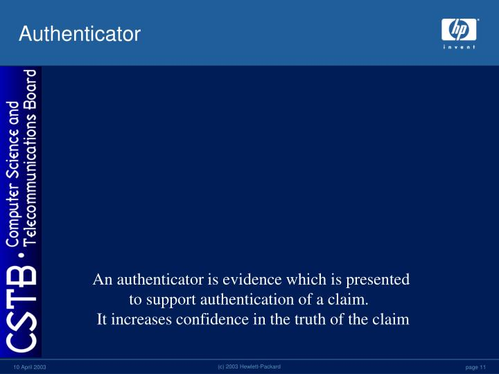 Authenticator