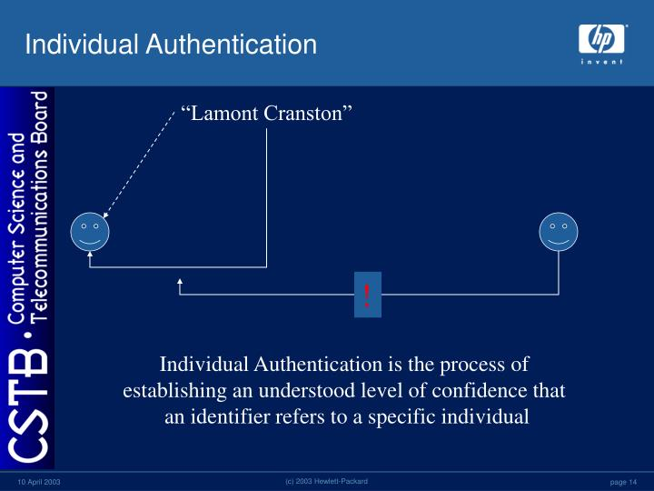Individual Authentication