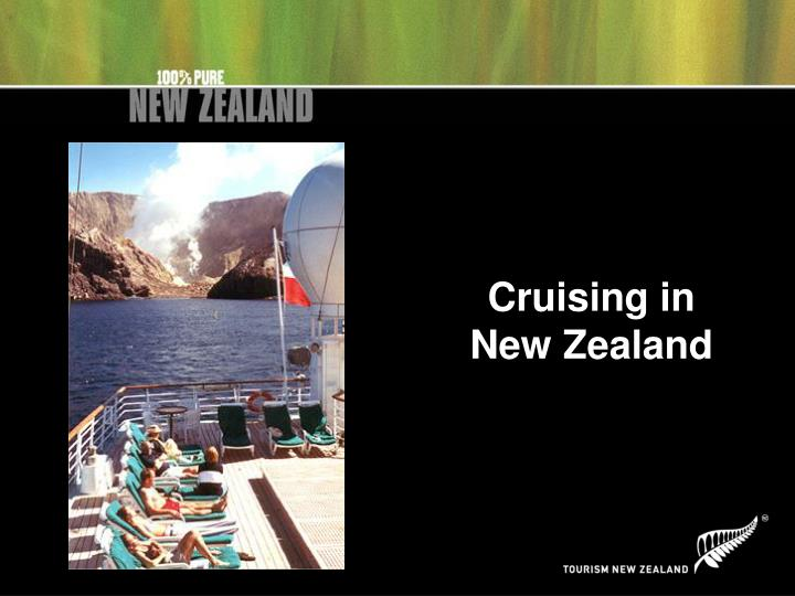 Cruising in new zealand