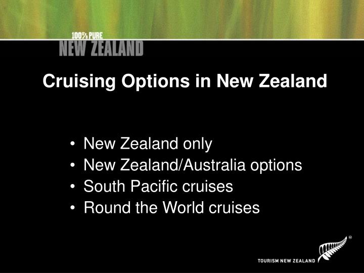 Cruising Options in New Zealand