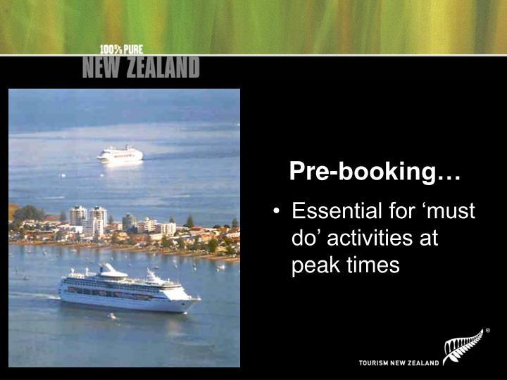 Pre-booking…