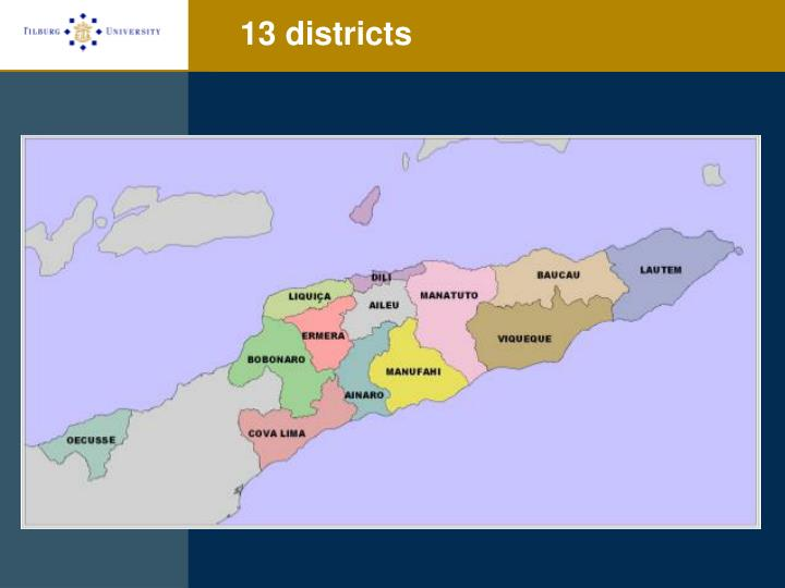 13 districts