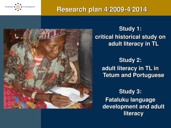 Research plan 4/2009-4/2014