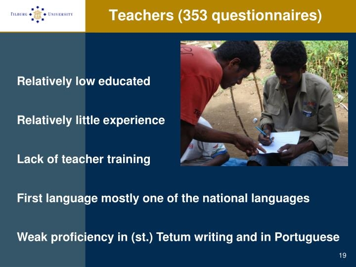 Teachers (353 questionnaires)