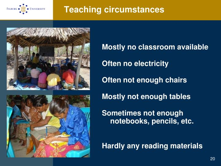 Teaching circumstances