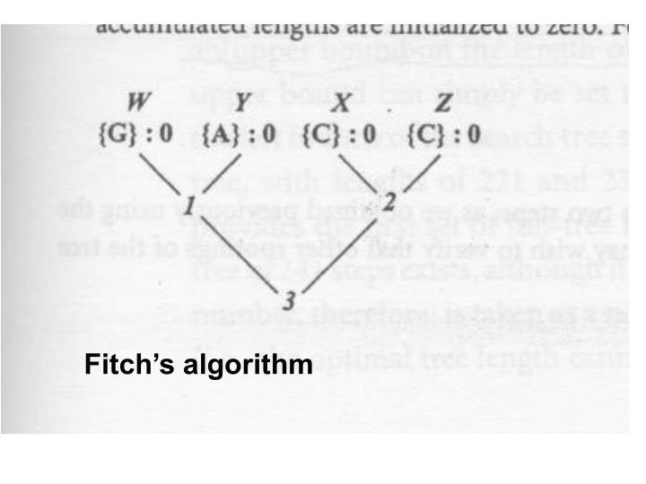 Fitch's algorithm