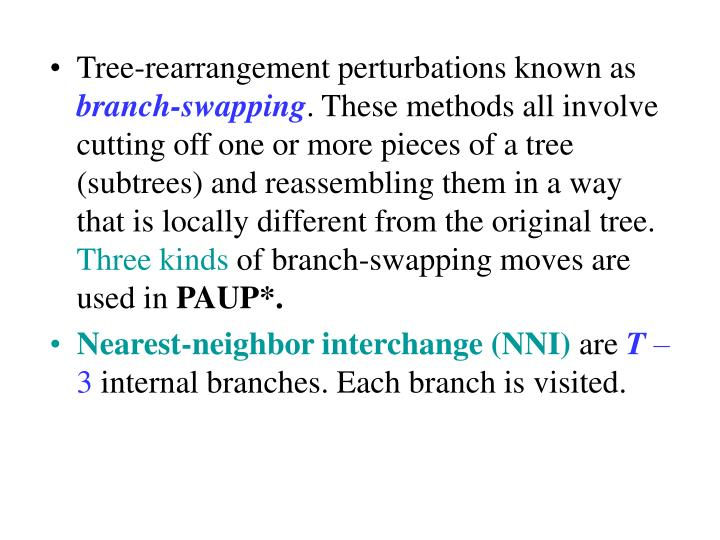Tree-rearrangement perturbations known as