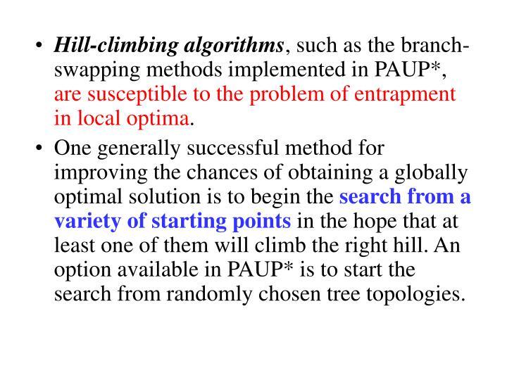 Hill-climbing algorithms