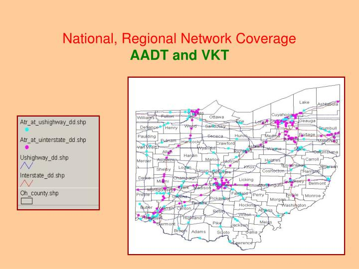 National, Regional Network Coverage
