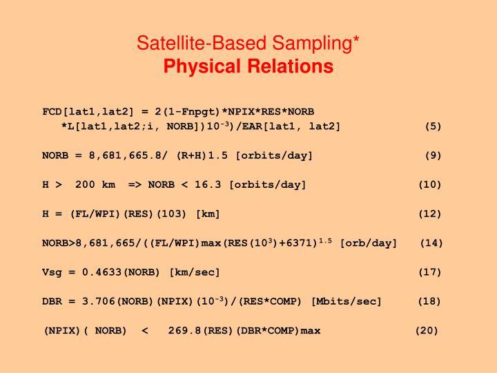 Satellite-Based Sampling*