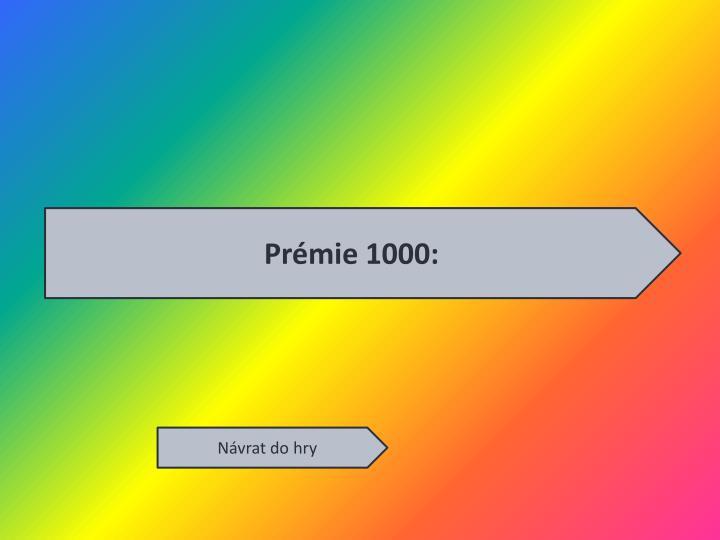 Prémie 1000: