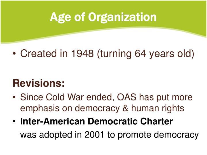 Age of Organization