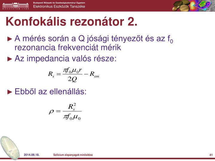 Konfokális rezonátor 2.