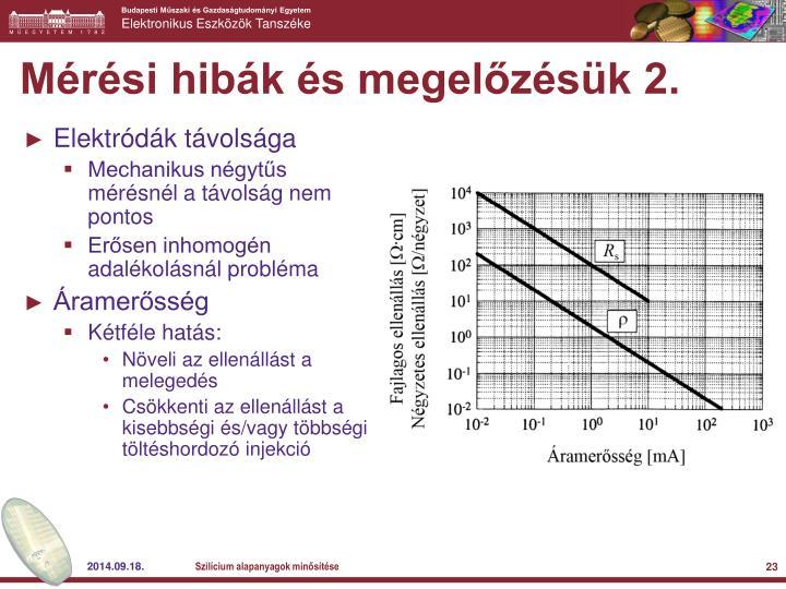 Mérési hibák és megelőzésük 2.
