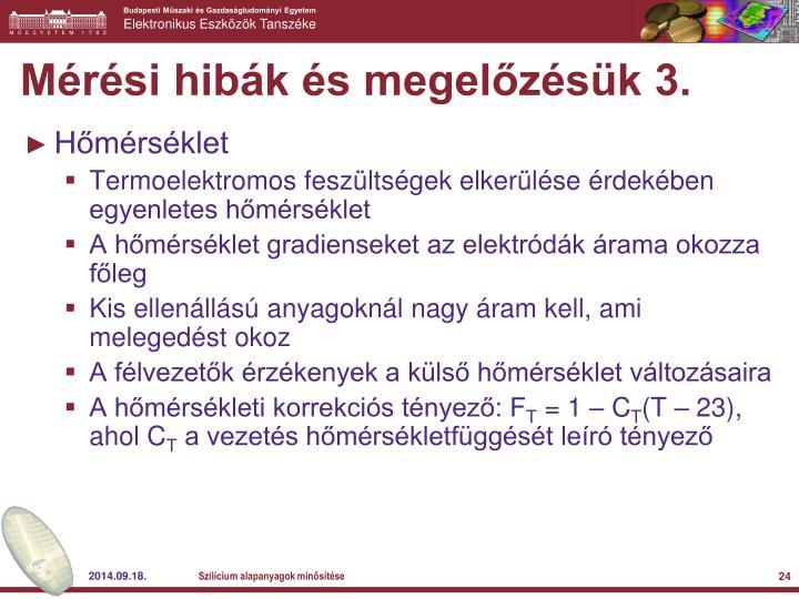 Mérési hibák és megelőzésük 3.