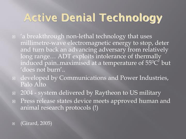 Active Denial Technology