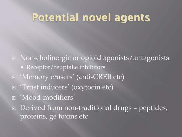 Potential novel agents
