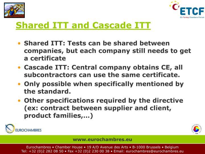 Shared ITT and Cascade ITT