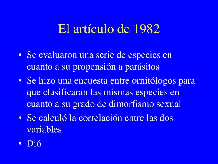 El artículo de 1982