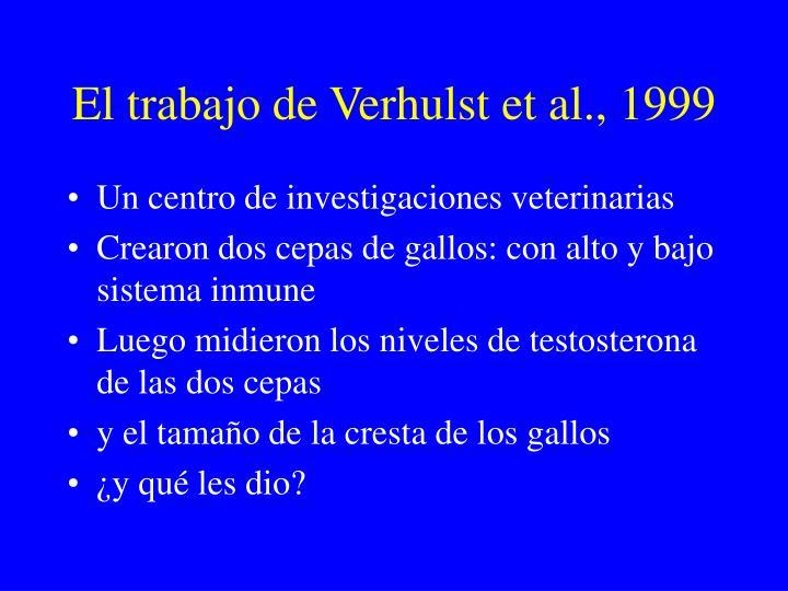 El trabajo de Verhulst et al., 1999