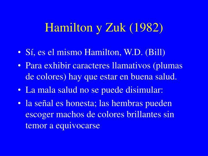 Hamilton y Zuk (1982)
