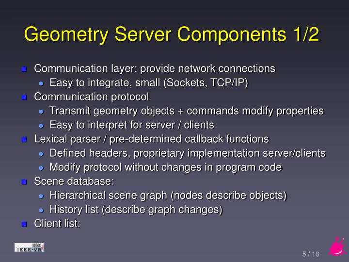 Geometry Server Components 1/2