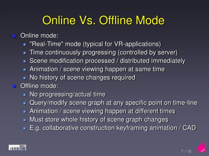Online Vs. Offline Mode