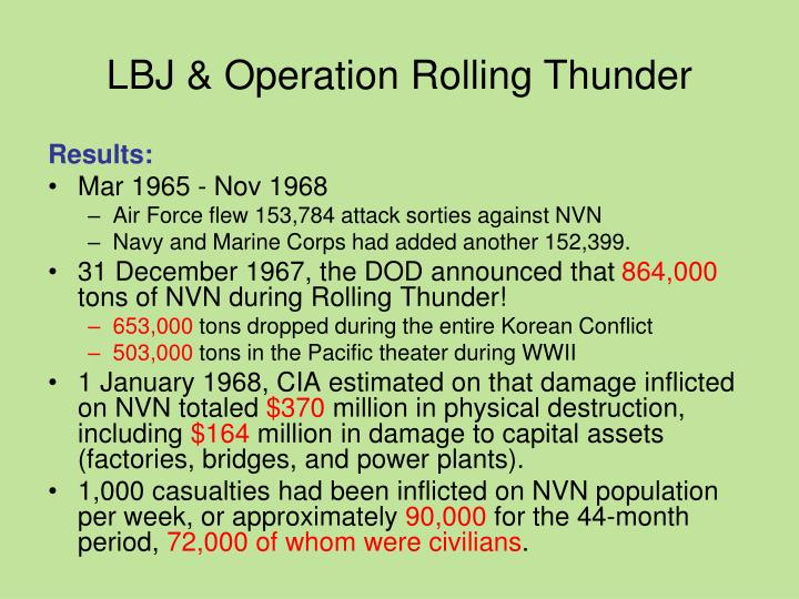 LBJ & Operation Rolling Thunder