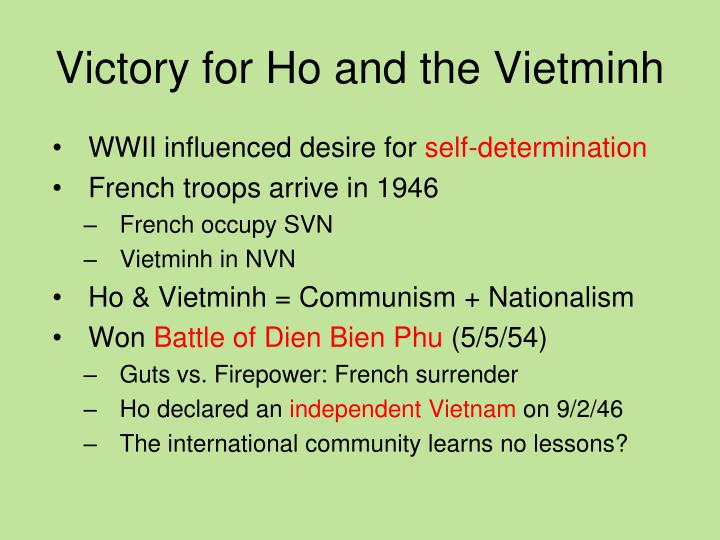 Victory for Ho and the Vietminh