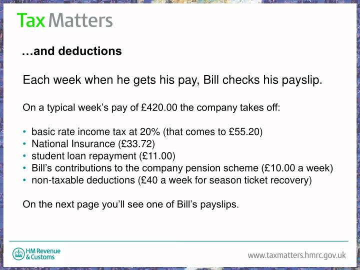 …and deductions