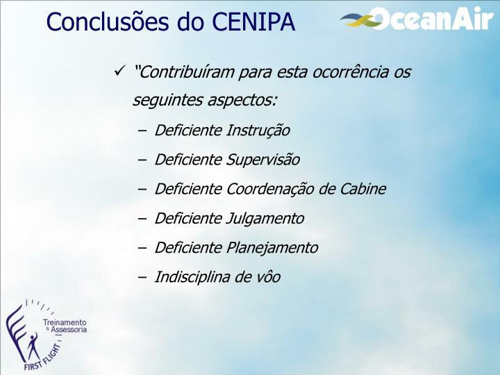 Conclusões do CENIPA