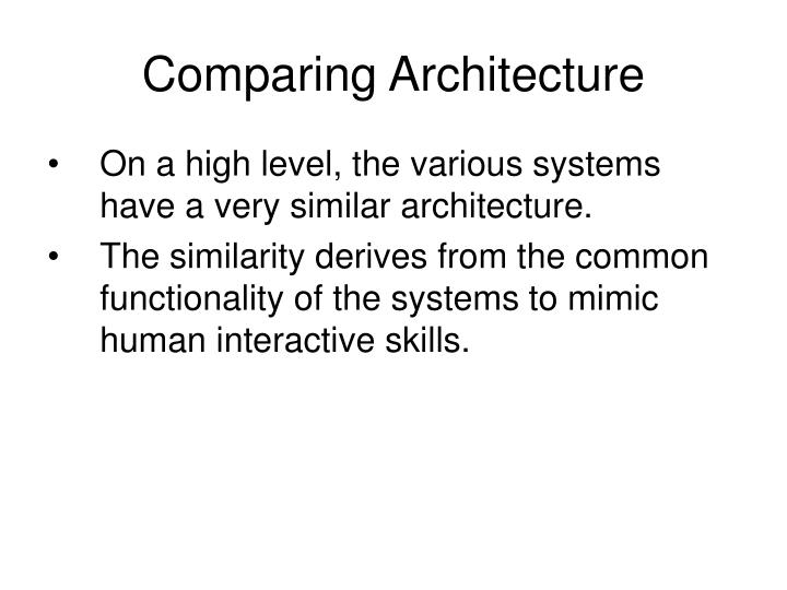 Comparing Architecture