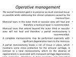 operative management