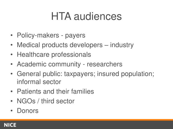 HTA audiences