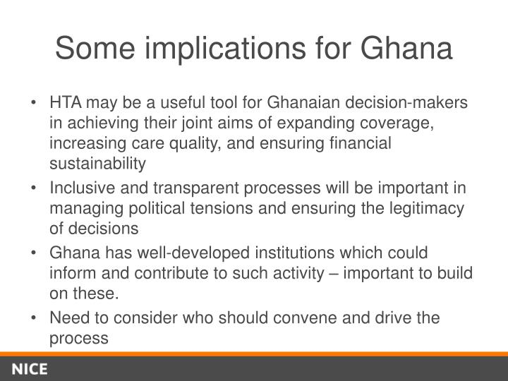 Some implications for Ghana