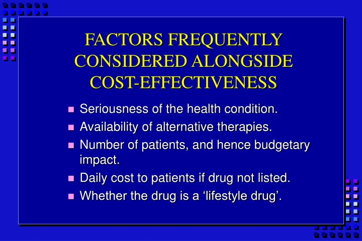 FACTORS FREQUENTLY CONSIDERED ALONGSIDE