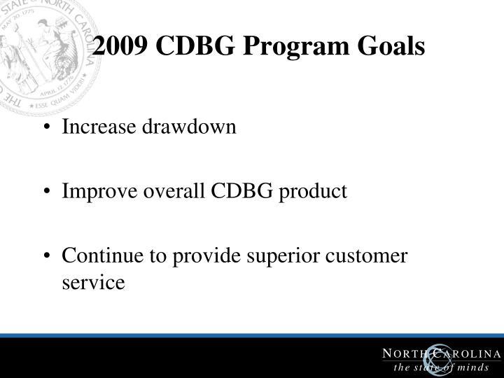 2009 CDBG Program Goals