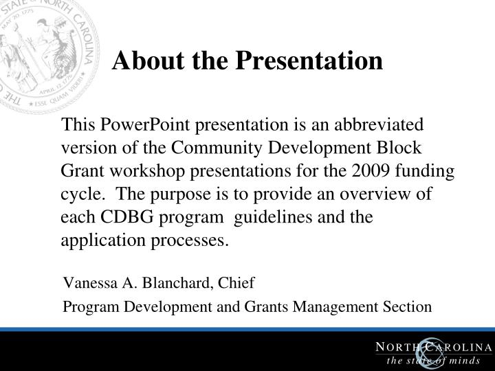 About the Presentation