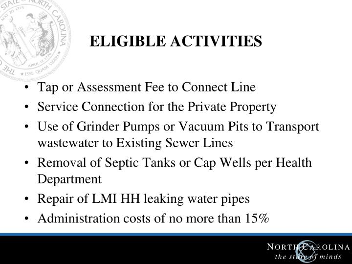 ELIGIBLE ACTIVITIES