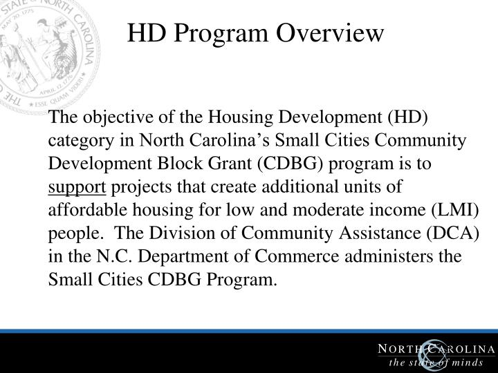 HD Program Overview