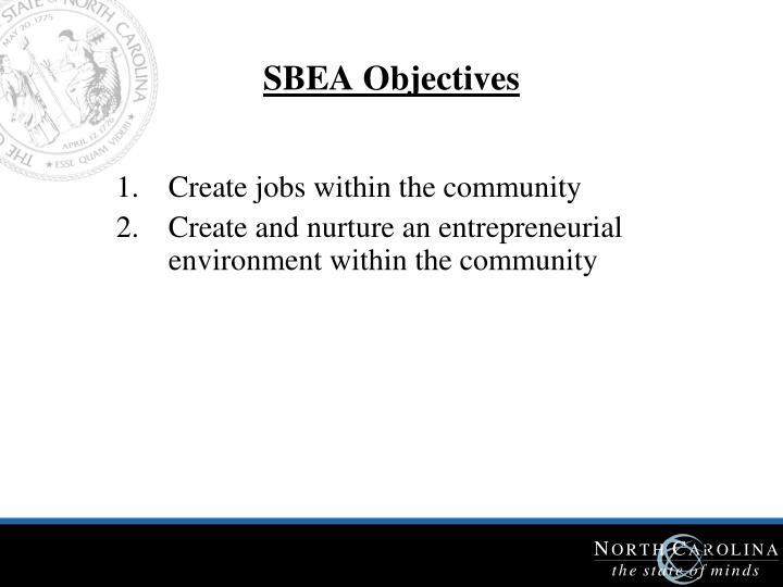 SBEA Objectives