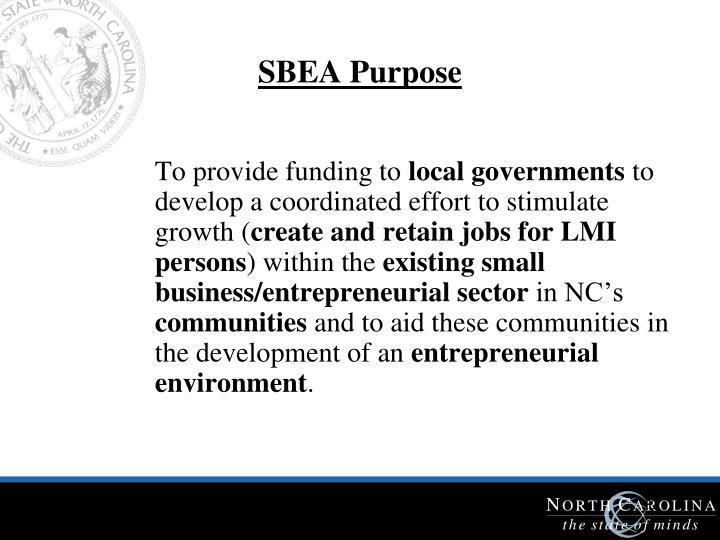 SBEA Purpose