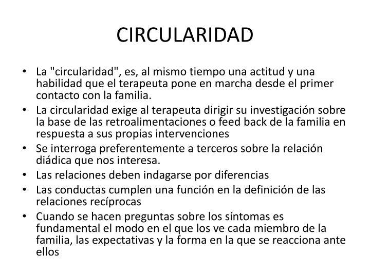 CIRCULARIDAD