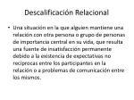 descalificaci n relacional