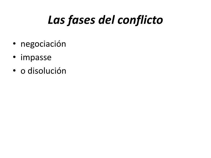 Las fases del conflicto