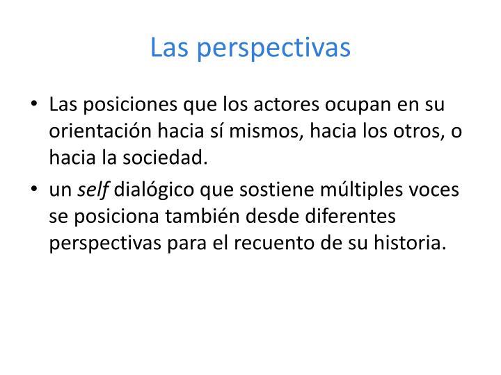 Las perspectivas